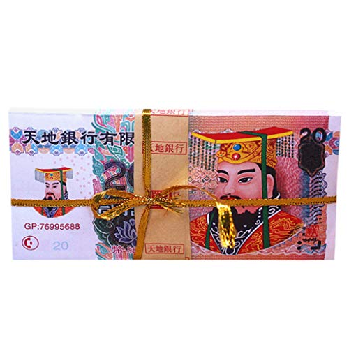 Sixcup 100 Stück Chinesisches Joss Papier ,Ancestor Money Heaven Banknoten für Bestattungen,Hölle Banknoten für Beerdigungen,Qingming Festival und Hungry Ghost Festival (C)