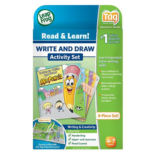 LeapFrog TAG Activity Storybook - Learn to Write and Draw with Mr. Pencil