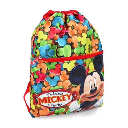 Karactermania Mickey Mouse Delicious Bolsas con Cordón, 42 cm, Rojo