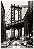 Panorama Poster Manhattan-Brücke New York 50x70cm -