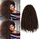 AU-THEN-TIC Marley Hair 6 Packs 18 Inch Marely Twist Braiding Hair long Afro Twist Braiding Hair for Butterfly Locs Crochet Braid KANEKALON Fiber Hair Extensions (18 Inch (Pack of 6), M1B/30)