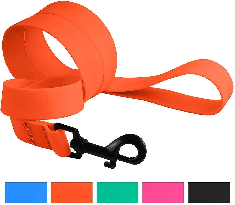 CollarDirect Waterproof Dog Leash Small Medium Large Durable Pet Leashes for Walking Training Running Pink Black bluee orange Green (M, orange)