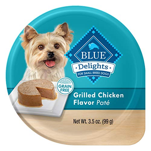 Blue Buffalo Delights Natural Adult Small Breed Wet Dog Food Cup, Grilled Chicken Flavor in Savory Juice 3.5-oz (Pack of 12)