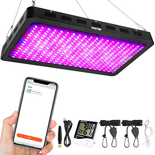 3000W LED Grow Light, WAKYME WiFi Remote with Timer Function Grow Lamp, Full Spectrum Plant Light Veg Bloom Growing Light for Greenhouse Hydroponic Indoor Plants Veg and Flower (Dual-Chip 10w LEDs)