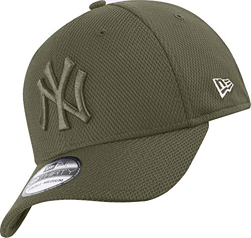New Era New York Yankees 39thirty Stretch Cap Diamond Era Tonal Olive - S-M
