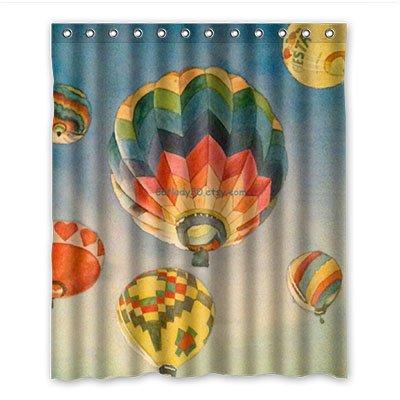 Dalliy Personalizzato Hot Air Balloon impermeabile poliestere Shower Curtain Tenda da Doccia 152cm x 183cm, poliestere, a, 60' x 72'