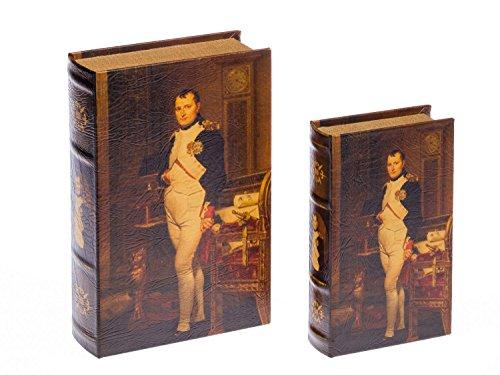 aubaho 2X Schatulle Napoleon Buchattrappe Box Kästchen Schmucketui Buchtresor Book Box