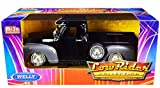 1953 Chevy 3100 Pickup Truck Black and Gray Low Rider Collection 1/24 Diecast Model Car by Welly 22087