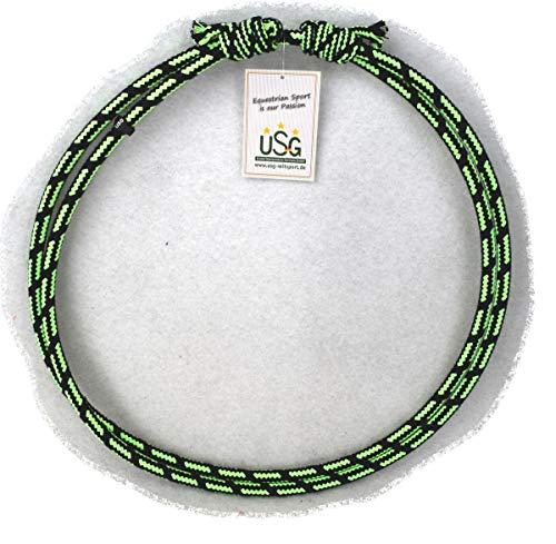 USG Halsring, rund und größenverstellbar, schwarz/grün, one size