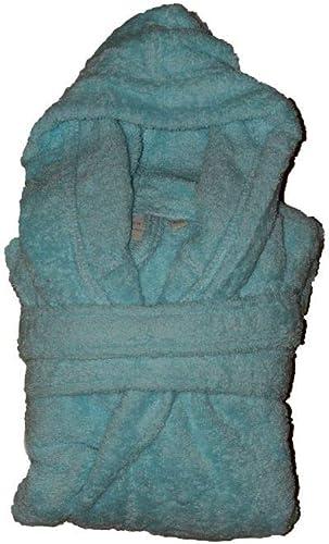 Aquanatura - Peignoir en coton Bio enfant, Couleuris lagon, Taille 8 ans