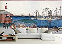 写真の壁紙日本の海辺の風景馬チーム日本の壁画リビングルームの壁の芸術の壁の装飾の家の装飾のための大きな壁壁画シリーズの壁紙-177.2x118.1inch/450cmx300cm