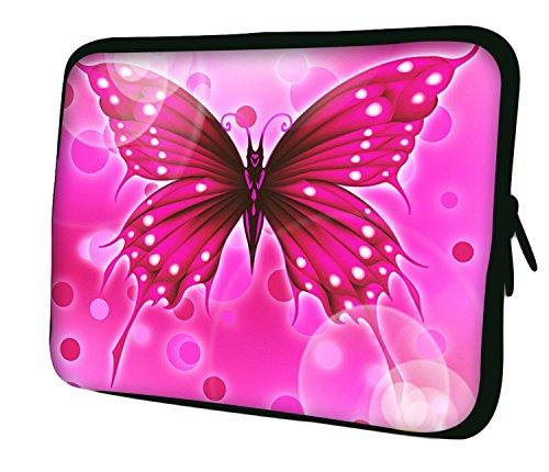 Luxburg 17' Custodia Morbida per PC Portatili Laptop Notebook ebook Reader e Tablet - Farfalla Rosa Grande
