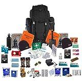 Two Person Emergency Survival Kit Bug Out Bag Fluchtrucksack (Black)
