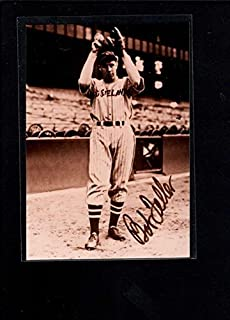 Signed Bob Feller Photo - Wallet Authentic On Ax3066 - Autographed MLB Photos
