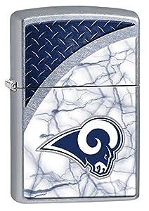 Zippo NFL La Rams Street Chrome Pocket Lighter