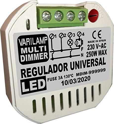 MULTI DIMMER 250. Regulador UNIVERSAL a pulsadores para cualquier LED regulable. 250W Max.