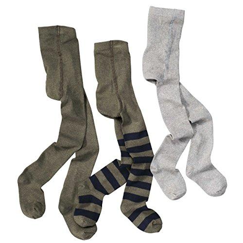 wellyou baby/kinder strumpfhosen für mädchen/jungen, babystrumpfhose/kinderstrumpfhose olive-grün blau 3er set gr 98-104