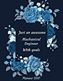 Just an Awesome Interior Designer With Goals: Monthly and Weekly Calender - 2021 Planner for Interior Designer / Daily Diary Book & Yearly Planner / ... Gifts