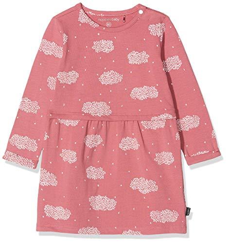 Noppies Baby-Mädchen G Dress ls Callaway AOP Kleid, Rosa (Mauve Wood P215), (Herstellergröße: 80)