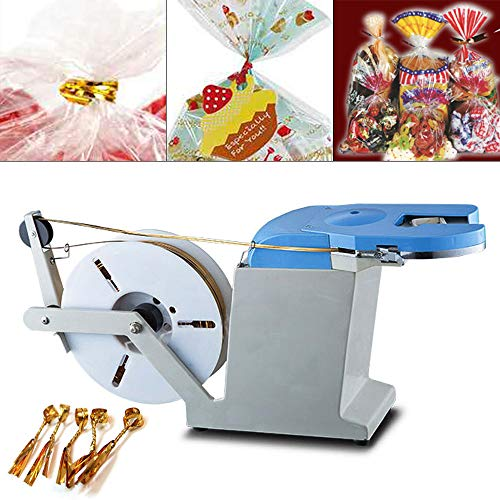 Fantastic Prices! ZHFEISY Semi-Automatic Twist Tie Machine - 110V 45W Electric Bag Closure Twisting ...