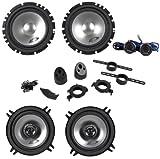 Alpine SXE-1750S 280 Watt 6.5 Component Speakers+SXE-1325S 5.25 2-Way Speakers