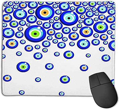 Alfombrilla de ratón para Juegos, Fondo de Cuentas de Ojo Turco Evil Eye, Alfombrilla de ratón con Base de Goma Antideslizante para Ordenadores portátiles Alfombrillas de ratón - 25 cm x 20 cm