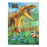 Depesche 11569 Dino World - Diario con código y sonido, aprox. 20,5 x 15,5 x 3 cm, 80 páginas rayadas para pensamientos y sentimientos secretos, multicolor