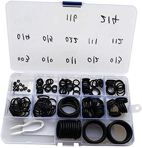 EPRHAY Kit de juntas tóricas de buceo con juego de púas, 12 tamaños, 70 duro, manguera de buceo, válvula de tanque de manguera de buceo, anillo sellado, repuesto de repuesto 170 piezas
