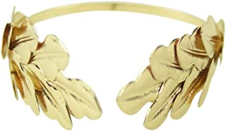 Gold Metal Caesar Leaf Crown Headband King Roman Emperor Costume Accessory Prop