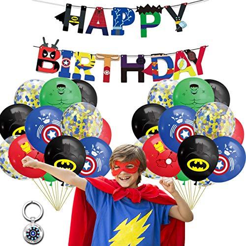 Set di Decorazioni per Feste di Compleanno da Supereroe da 22 Confezioni,Supereroi Avengers Party Forniture Decorazioni,Kit di Decorazioni di Compleanno di Supereroi per bomboniere a Tema per Ragazzi
