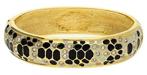 Guess Damen-Armreif Metall gold/schwarz Glamazon UBB81331