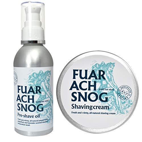 The Executive Shaving Company Fuar Ach Snog Minty Crème de Rasage 200ml et Prérasage Huile 150ml