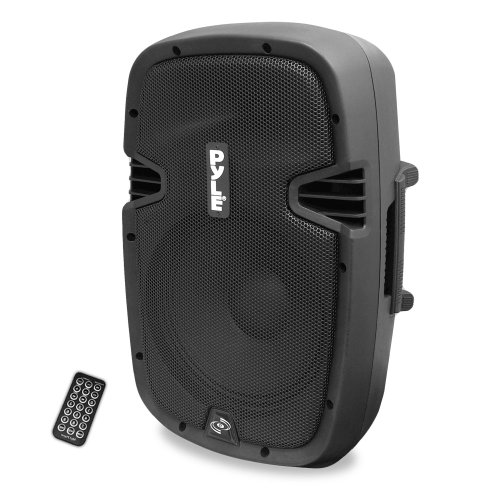 Powered Active PA Loudspeaker Bluetooth System - 10 Inch Bass Subwoofer Monitor Speaker and Built-in USB for MP3, DJ Party Stereo Amp Sub for Concert Audio or Band Music- Pyle PPHP1037UB, blue