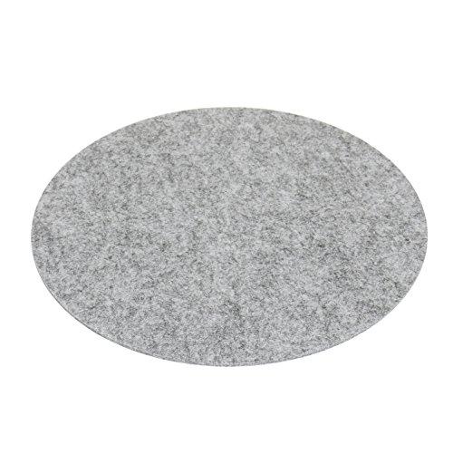 7even - Cuscino in feltro rotondo, 33 cm, rotondo, grigio, 4 mm