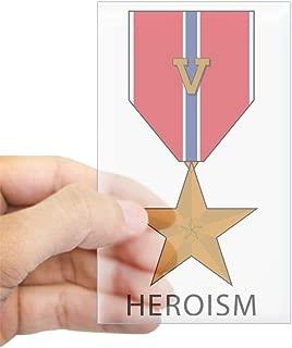 CafePress Bronze Star With39;V39; for Valor - Heroism S Rectangle Bumper Sticker Car Decal