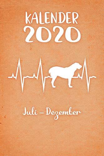 Kalender 2020: Oranger Tageskalender Alabai Herzschlag Hunde 2. Halbjahr Juli Dezember ca...