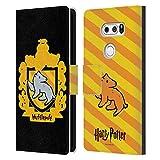 Head Case Designs Officiel Harry Potter Hufflepuff Crête Deathly Hallows I Coque en Cuir à...