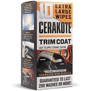 CERAKOTE Ceramic Trim Coat Kit - Quick Plastic Trim Restorer - Guaranteed Restoration to Last Over 200 Washes – A Ceramic Coating Not a Dressing