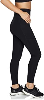 Rockwear Activewear Women's Fl Giant Logo with Pocket Tight from Size 4-18 for Full Length Ultra High Bottoms Leggings + Yoga Pants+ Yoga Tights