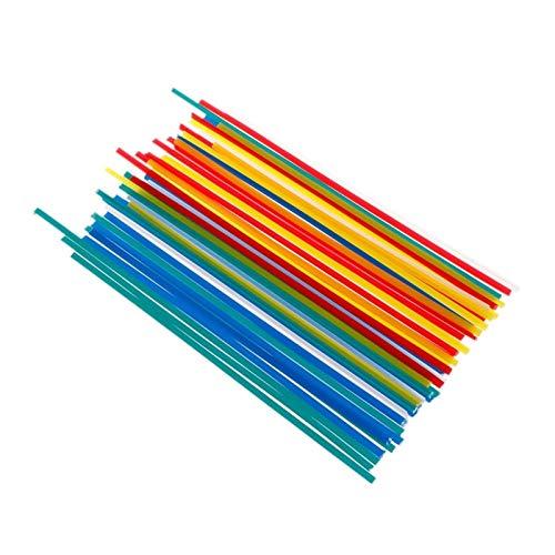 Verakee Ztengyu-Varillas para soldar Barras de Soldadura de 200 * 5 * 2 mm, para el Soldador de plástico 50pcs M13, ABS/PP/PVC/PE Soldando Palos de Soldadura, Rendimiento Estable