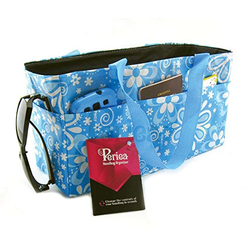Periea Handtaschenordner, Einlage, Einsatz 16 Taschen EXTRA GROSS 34x19x13cm - Janis blau