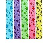 Black Temptation 1040 Hojas de Papel Plegable Estrella 5 Colores - Hojas de Arce