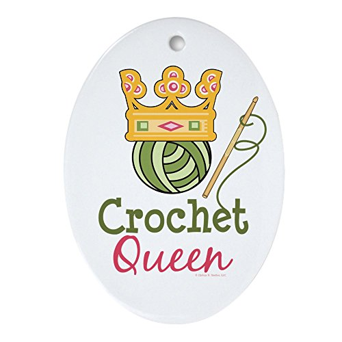 CafePress Crochet Queen Oval Ornament Oval Holiday Christmas Ornament