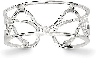 Lex & Lu Sterling Silver Wave Toe Ring