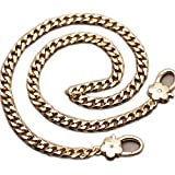 Head of Flower Buckle Golden Chain for Replacement Mini Women Bags Shoulder Bags Handbags Messenger Bags Purse Bags (Length 60 cm)