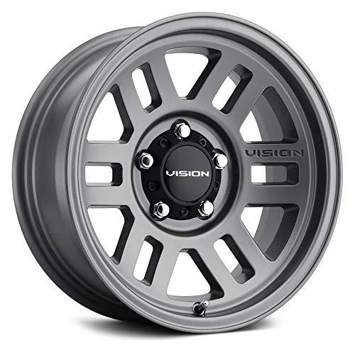 Vision Off-Road 355 Custom Wheel - Manx 2 Overland Series - Satin Gray - 17' x 9', 20 Offset, 5x114.3 Bolt Pattern, 83mm Hub