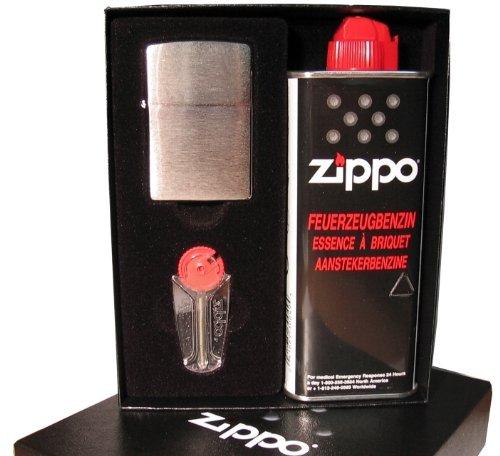 ZIPPO Feuerzeug - Metall (Benzin-Feuerzeuge), EGAFF3916764, Geschenk-SET
