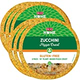 Rich's Home Zucchini Pizza Crusts, 6 Crusts, Gluten Free, Plant Based, 10' Flatbread