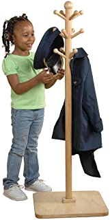 Constructive Playthings - MTC-311 E-Z Reach Wooden Classroom Clothes Tree Hanger for Kids