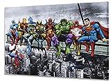Marvel & DC Superhelden Mittagessen Auf Einem Wolkenkratzer